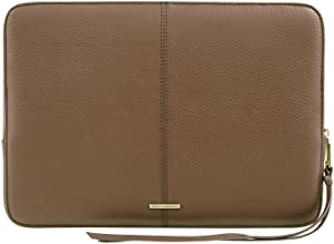 """Rebecca Minkoff Moto Sleeve for 13 Inch MacBook, 13"""" Laptops - Almond Pebble Leather"""