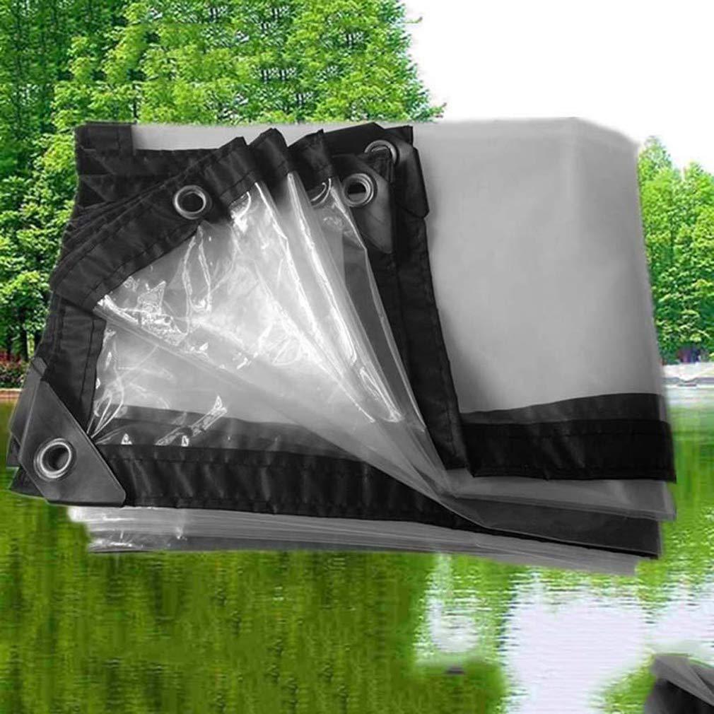 Transparente Poly Tarp- Dicke schwarze Kante Wasserdichte Wasserdichte Wasserdichte Tarp- Überdachung - Ideal für Windschutzfolien, Campingplatten und Abdeckungen,2x6m   6x18ft B07LCMR14M Zeltplanen Qualität und Verbraucher an erster Stelle 10e238