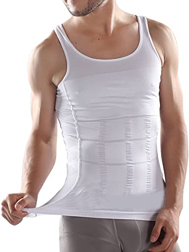 Faja REDUCTORA para hombre identifican shape wear Body Shaping camiseta Koerperformer para deportista sz.xl camisa interior de colour blanco: Amazon.es: Ropa y accesorios