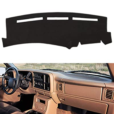 HanLanKa Dashboard Cover for Chevrolet Silverado 1500 2500 3500 1999-2006 Avalanche Chevy Tahoe Suburban GMC Sierra Yukon Dash Cover Mat(Premium Carpet, Black): Automotive