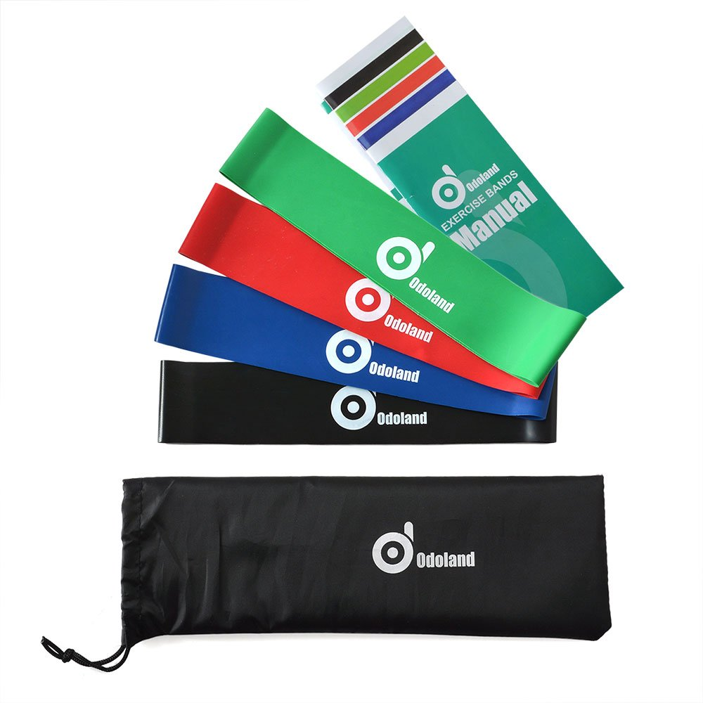 Resistance Bands Treadmill Workout: Odoland Exercise Resistance Loop Bands-Physical Therapy