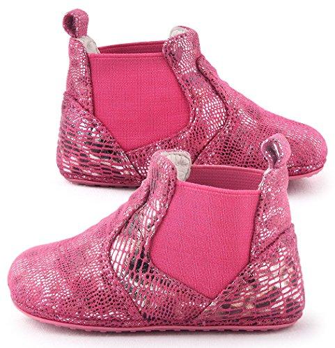 Cartoonimals Baby Prewalker Newborn Cribs Shoes Mid Cut Boots Fuxia