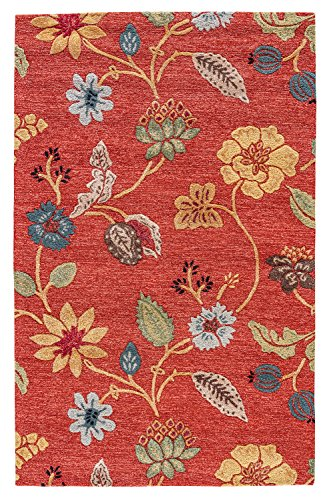 Jaipur Living Garden Party Hand-Tufted Floral & Leaves Red Area Rug (2'6