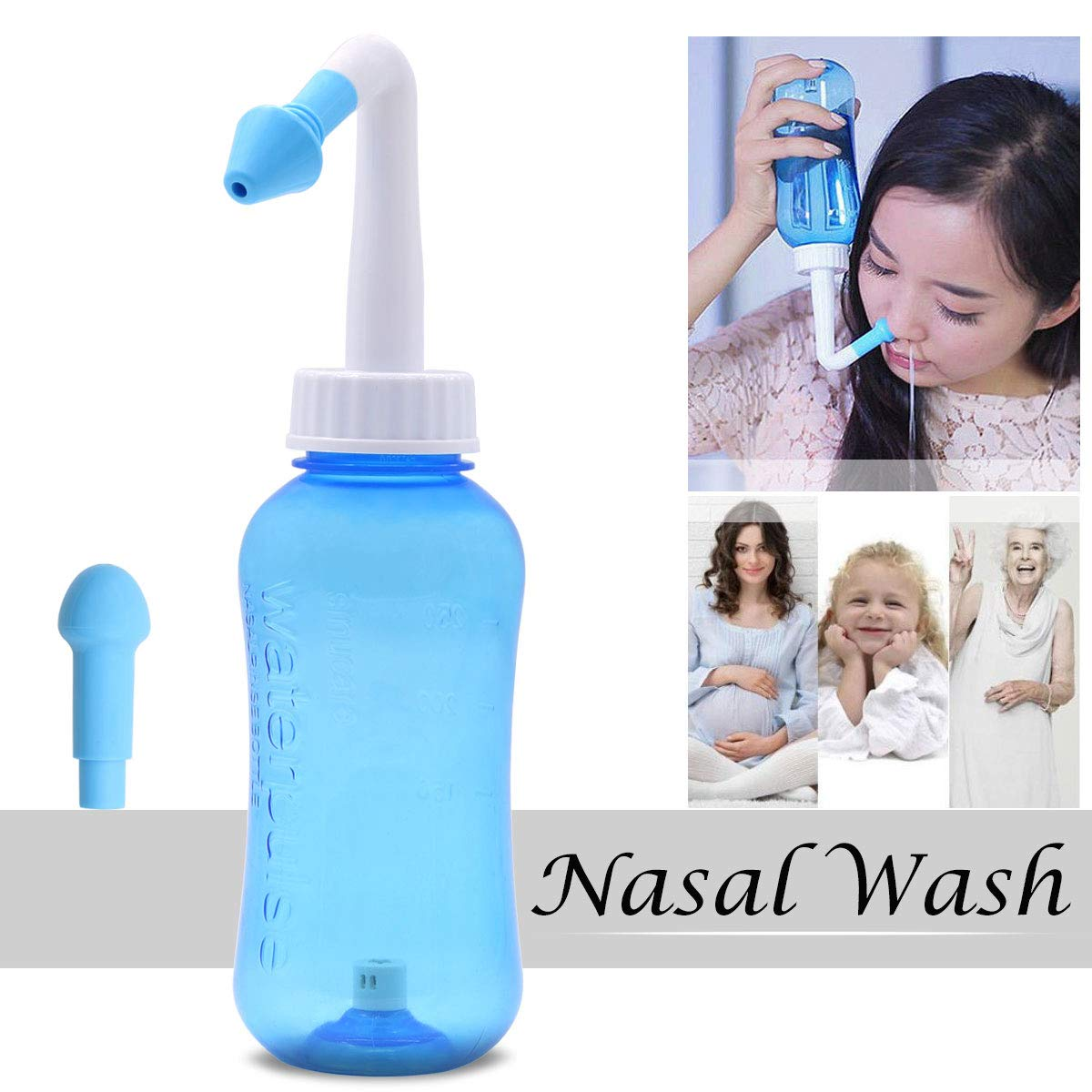 Hivexagon Sinus Rinse Washer Offer relief from allergy and various nasal conditions for Adults and Children 300ml HG197