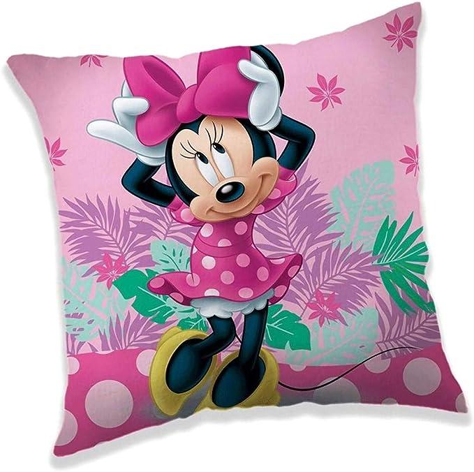 Mickey Housse de coussin avec motif Disney Mickey et Minnie Mouse Imprim/é des deux c/ôt/és Coton 40 x 40 cm Id/ée cadeau 40 x 40 cm
