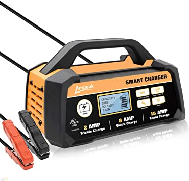 Ampeak 2815A 12V Smart Battery ChargerMaintainer Automatic with Winter Mode