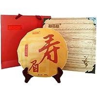 茗居茗 福鼎白茶 寿眉 福鼎日晒白茶礼盒装 200g 送茶刀+烧桐木茶盒