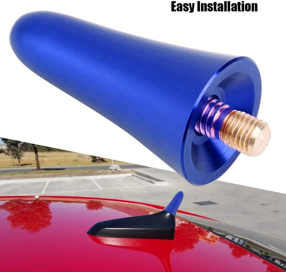 Universal Car Antenna Screw-in Short Radio Antenna Adapter AM FM Aerial Mast Screw Type Stubby Antenna Decoration Blue