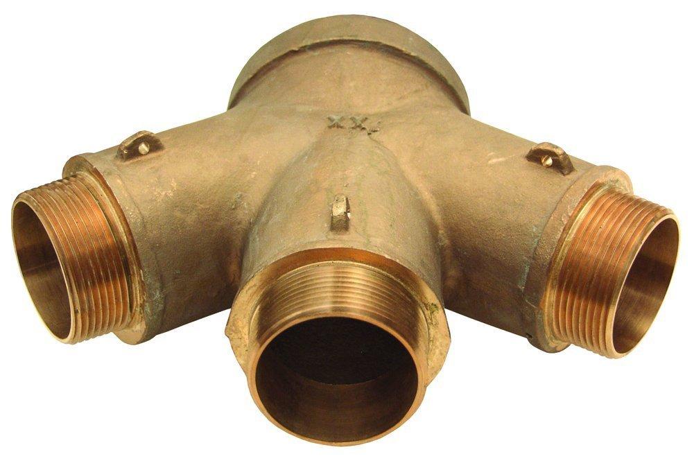 Dixon FR3C6025F 6 FNPT x 3 2-1//2 MNST Three Way outlet Cast Brass