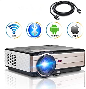 4000 Lumen HD Android Video Proyector con WiFi Bluetooth ...