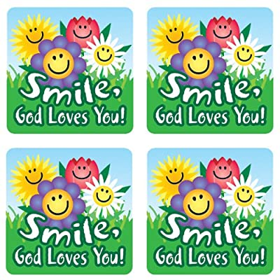 Carson Dellosa Christian Smile, God Loves You! Stickers (0667): Carson-Dellosa Christian Publishing: Office Products