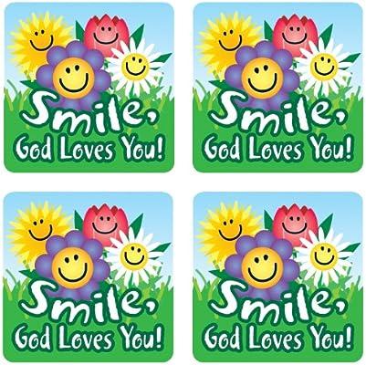 Smile, God Loves You! Sticker Pack Scripture Stickers: Amazon.es: Carson-Dellosa Christian Publishing: Libros en idiomas extranjeros