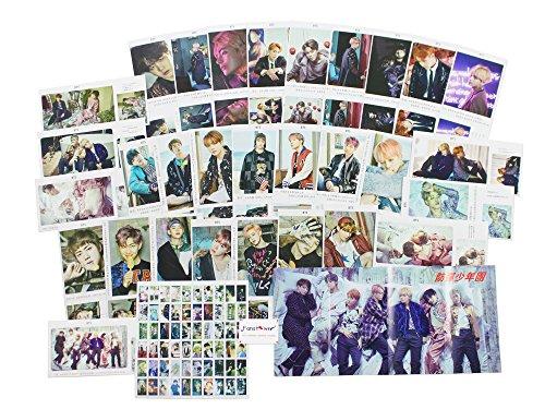 Fanstown Kpop BTS Bangtan Boys WINGS Postcard with Lomo Cards (BTS postcard D)