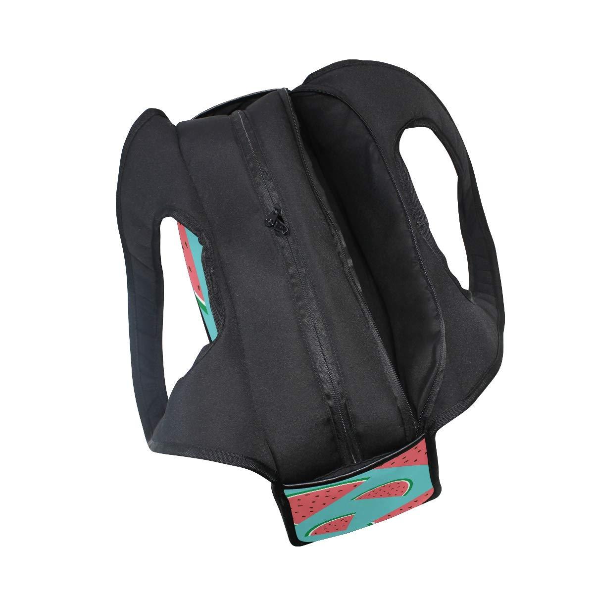 Watermelon Painted Women Sports Gym Totes Bag Multi-Function Nylon Travel Shoulder Bag