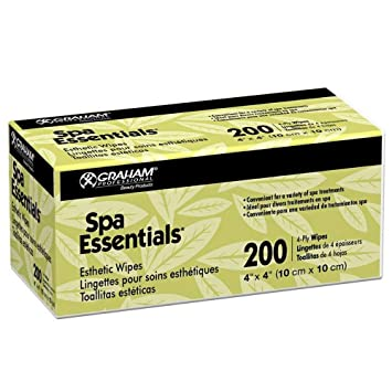 Amazon.com: Graham Spa Essentials Nonwoven Esthetic Wipes 4 X 4, 200 Count (2 Pack): Beauty