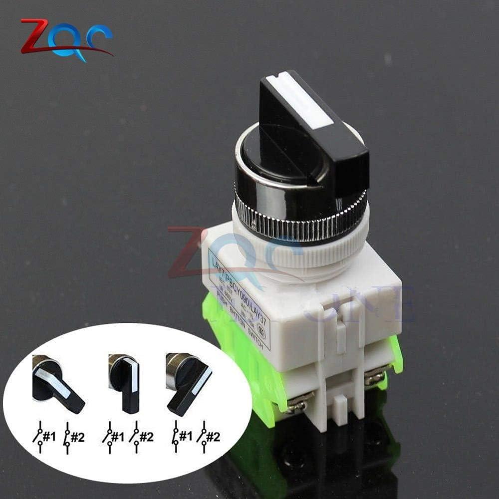 3 Interruptor selector rotativo de tres posiciones de encendido por encendido LAY7-20X