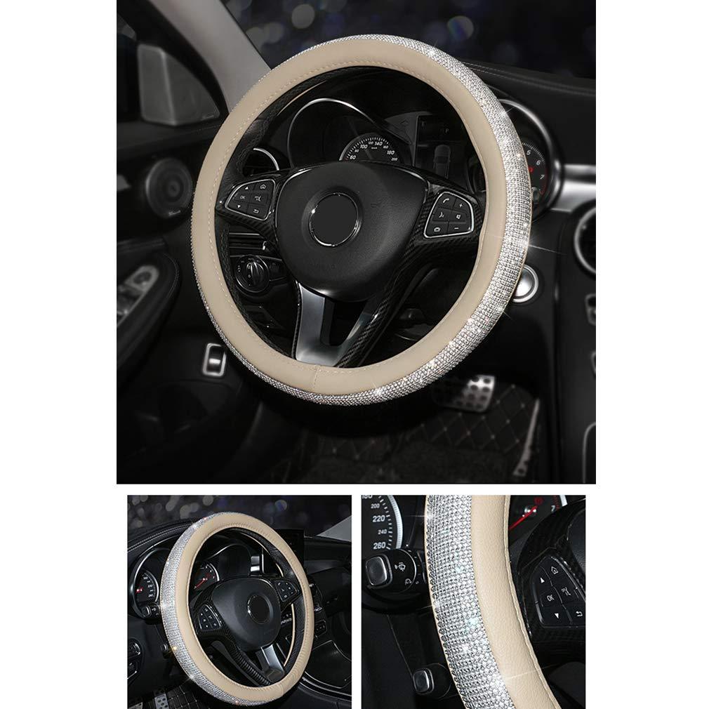 Pahajim Car Steering Wheel Cover Couvre Volant Cuir Housse de Volant de Voiture en Soie glac/ée Respirante antid/érapante Durable Summer Universelle Bleu