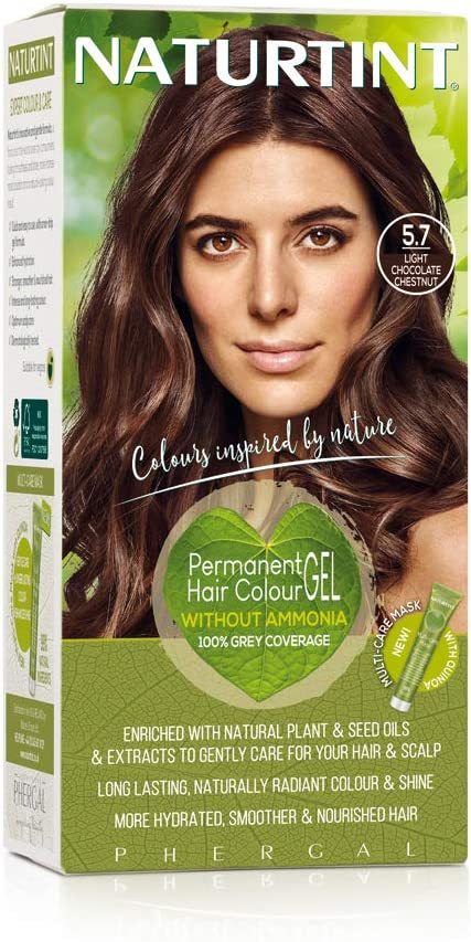 Tinte para el cabello Naturtint, 165ml, 5.7 Castaño de chocolate claro, 1