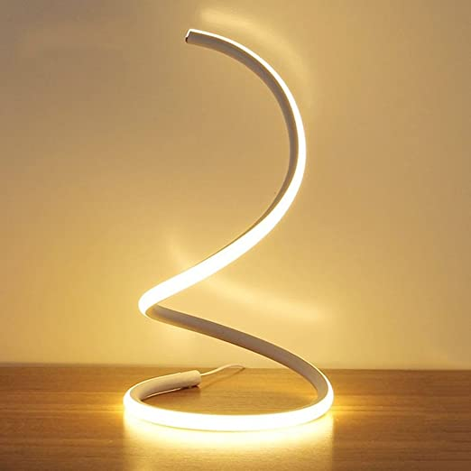 Modeen spiral led table lampmodern led desk lampbedroom bedside lamp work study