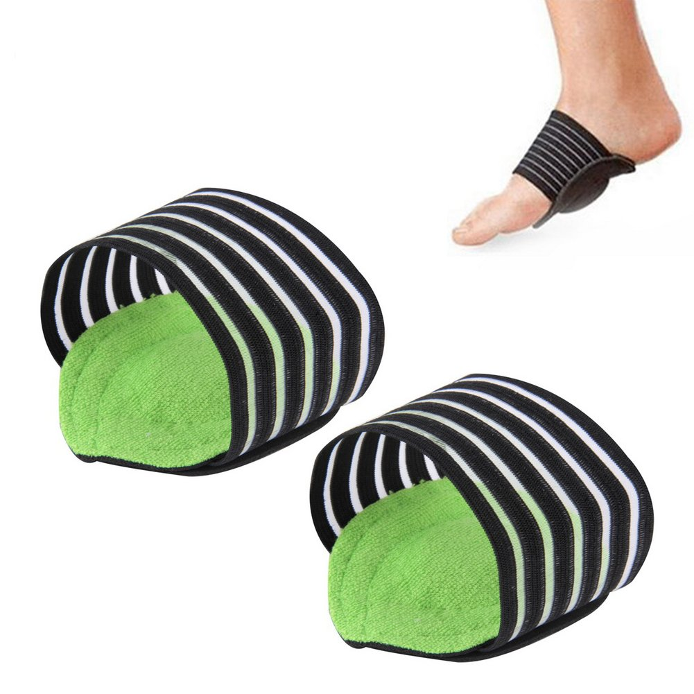 2 Pairs of Foot Arch Support, Sunbeter Plantar Brace Ease Pain Aid Feet Cushioned Shock Absorber Health Care Foot Protector Supports