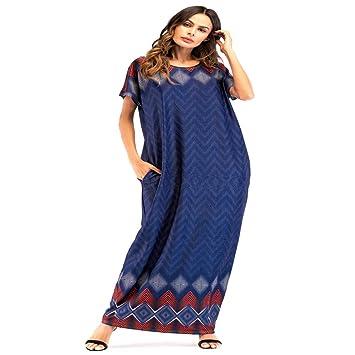 Cvbndfe Cómodo Bata Musulmana Vestido de Manga Corta Cuello Redondo Vestido Largo árabe Toga árabe Elegante (tamaño : L): Amazon.es: Hogar