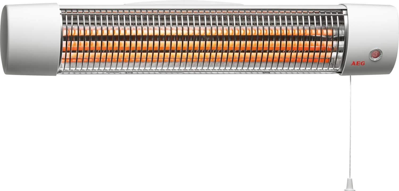 AEG 183820 IWQ 121 por infrarrojos de cuarzo-calentadores para el cuarto de baño, 2 niveles de temperatura, 1200 W, colour gris, 234820: Amazon.es: ...
