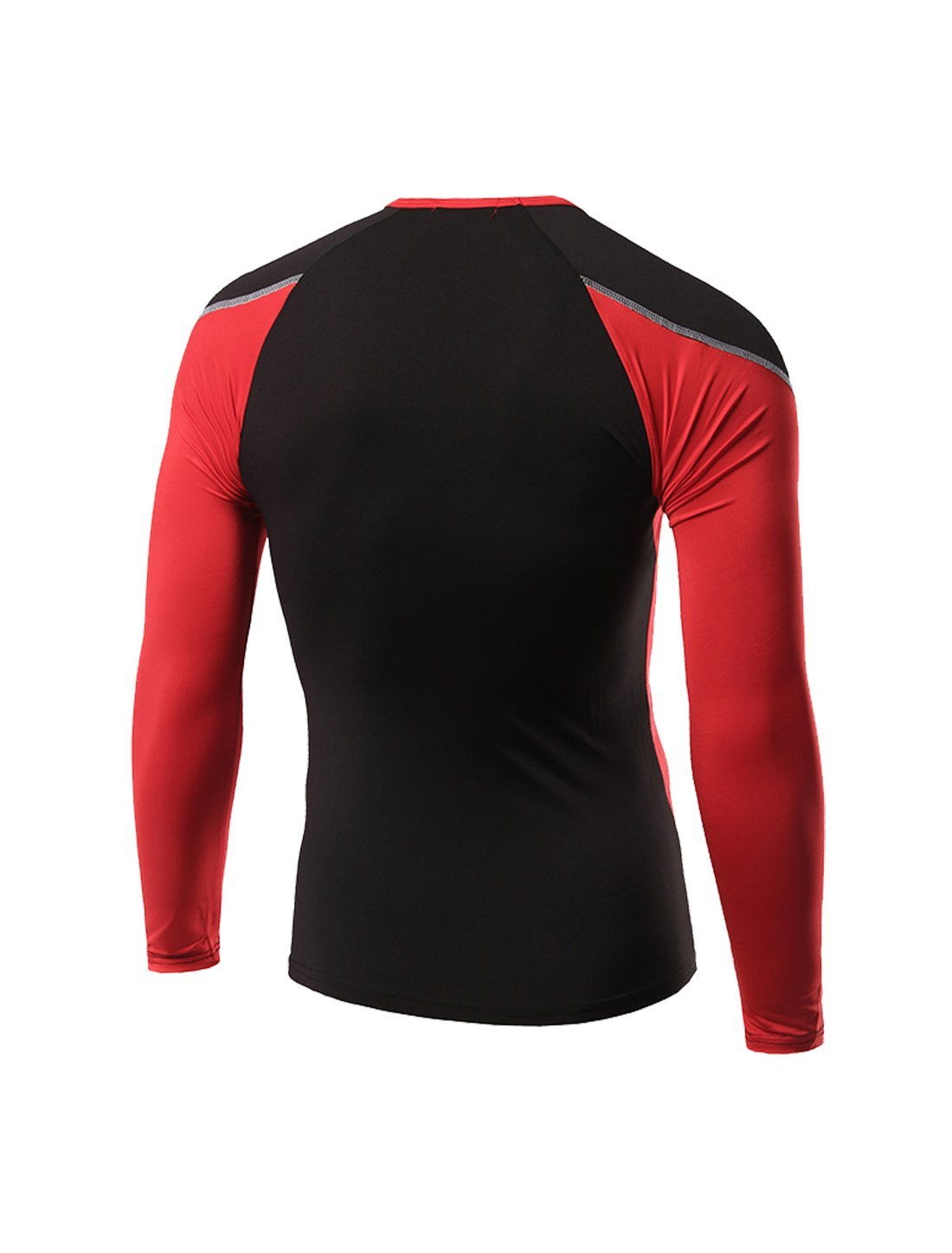 Amazon.com : eDealMax WHATLEES autorizado Color de Los Hombres-bloque Atlética compresión Camiseta del Deporte M Rojo : Sports & Outdoors