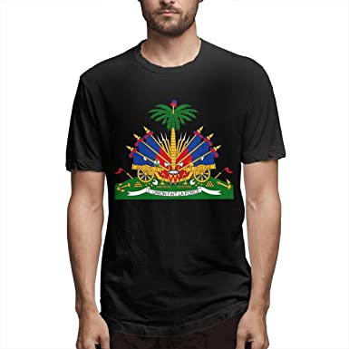 Helpful Best Gift For Friend Crest Haiti Flag Funny Long Tshirts Long Sleeve T Shirt Men's Clothing