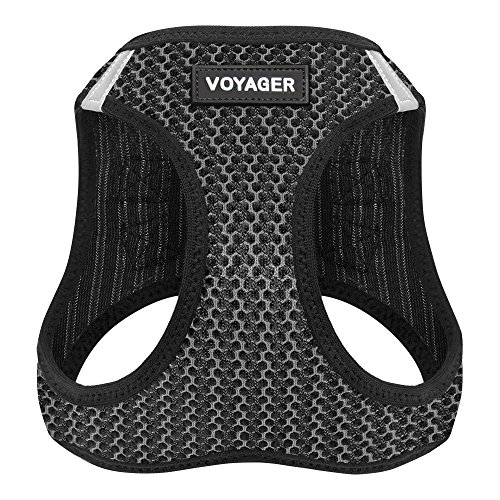 - Voyager Step-in Air Dog Harness - All Weather Mesh, Step in Vest Harness for Small and Medium Dogs by Best Pet Supplies - Gray, X-Large (Chest: 21