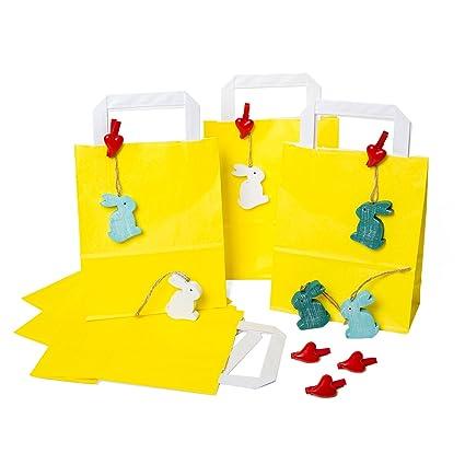 6 pequeños amarillas oste bolsas bolsas de regalo 18 x 22 x ...