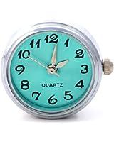 Morella Unisex Click-Button Uhr hellblau