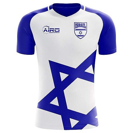 1cf352045 Amazon.com : Airo Sportswear 2018-2019 Israel Home Concept Football Soccer T -Shirt Jersey : Clothing