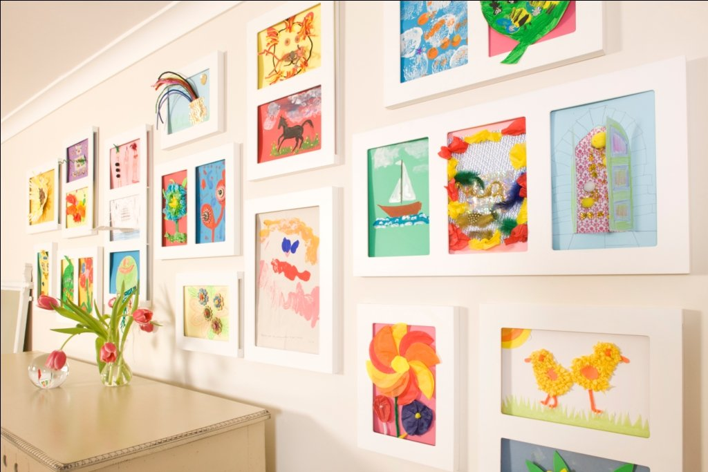 amazoncom triple gallery picture frame 9 by 12 inch home kitchen - Kids Art Frame