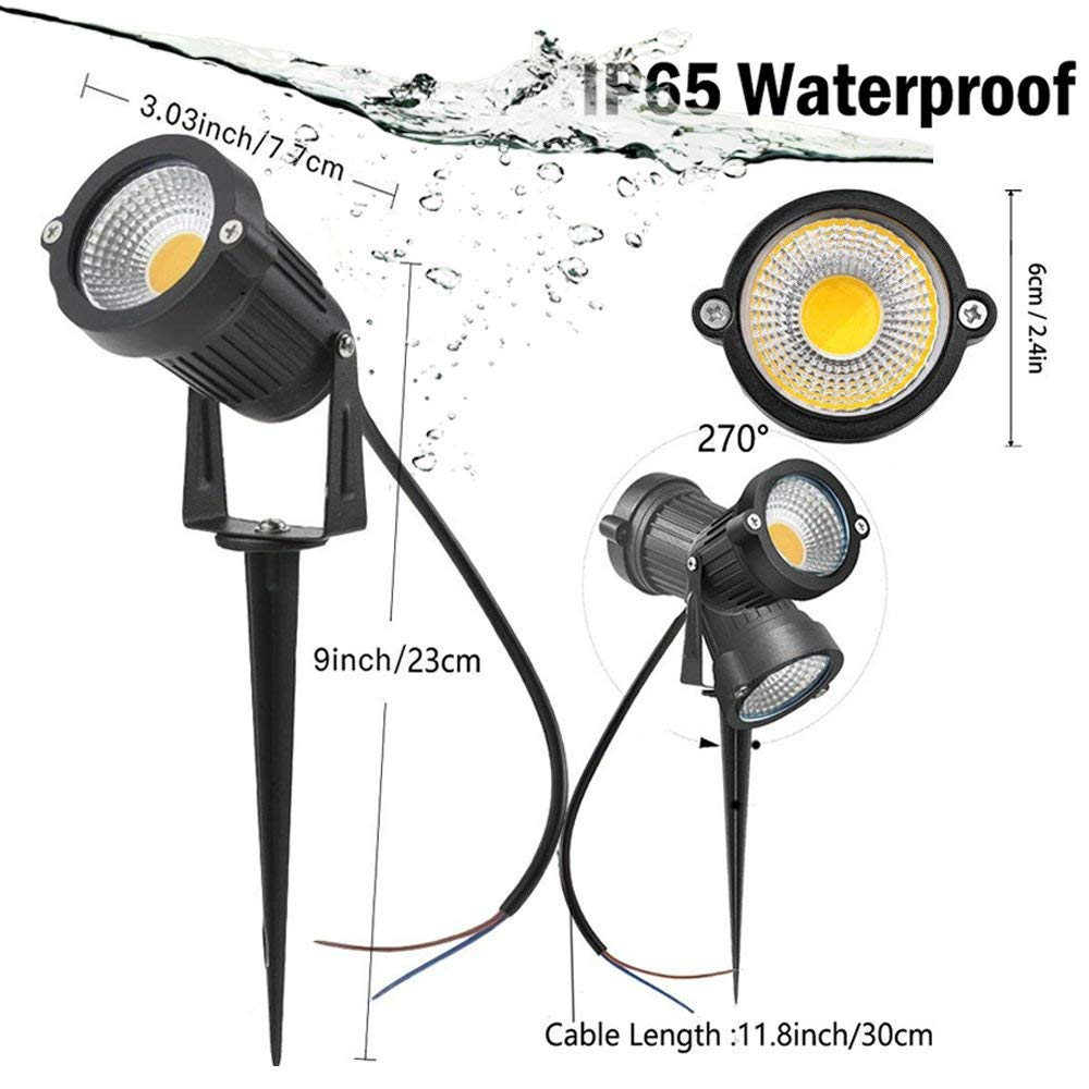 Sunriver 6w Led Landscape Lights 12v 24v Low Voltage Rose Moreover Wiring Ceiling Wires Outdoor Pathway Spotlight Ip65 Waterproof With Stand Spike For Yard Lawn