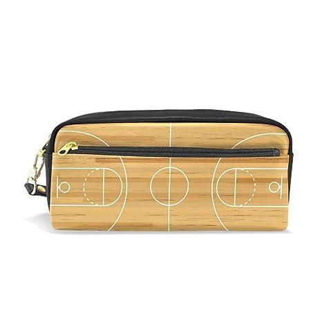 Estuche de madera para lápices de canasta de baloncesto para ...