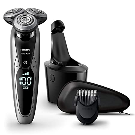 Philips Series 9000 Wet and Dry Men's Electric Shaver S9711/31 with SmartClean Plus System & Beard Trimmer - Amazon Exclusive-Best-Popular-Product
