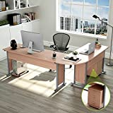 "87"" Tribesigns Largest Modern L-Shaped Desk with Return and Mobile File Cabinet, Corner Computer Desk Study Table Workstation for Home Office Wood & Metal with Drawers, Salt Oak"