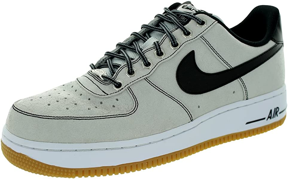NIKE Air Force 1 Men Black/Grey/White 488298 068 (SIZE