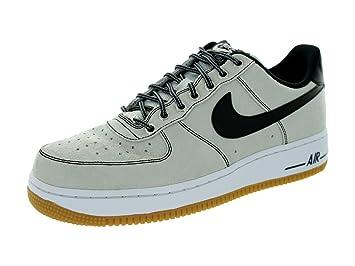 Nike Men's Air Force 1 Premium Platinum/Black/White/Gum Light Brwn  Basketball