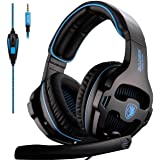 SADES Gaming Headset for Xbox One,PS4, PS5 PC Headphones with Microphone Mic for Nintendo Switch Playstation Computer, (Black