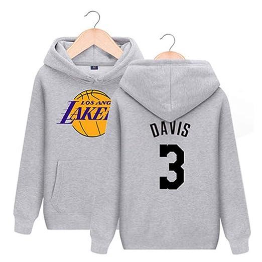 CCKWX Los Angeles Lakers # 3 Sudadera con Capucha De ...