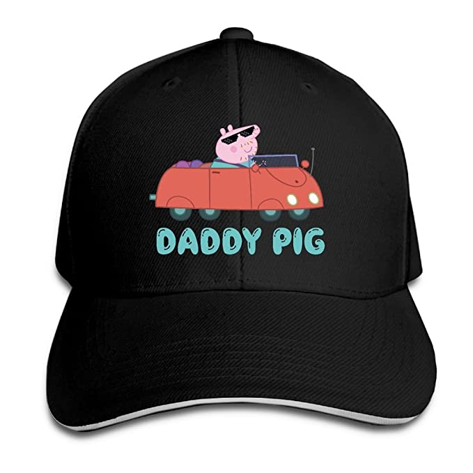 Daddy Pig Character From Peppa Pig TV Show Snapback Hats Fitted Best Flat  Caps e08017f0adc
