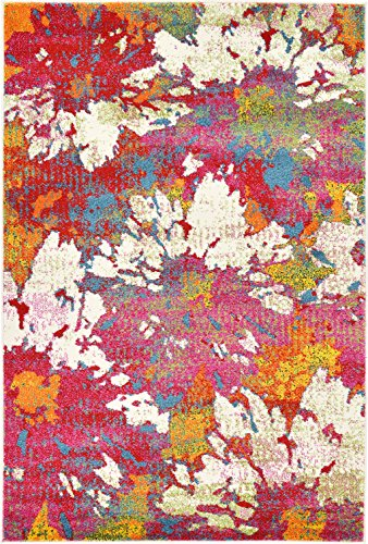 Abstract Painting Modern Area Rug Multi 4' x 6' FT Luce del sole Collection Geometric Contemporary Thick Soft Living Dinning Bed room price