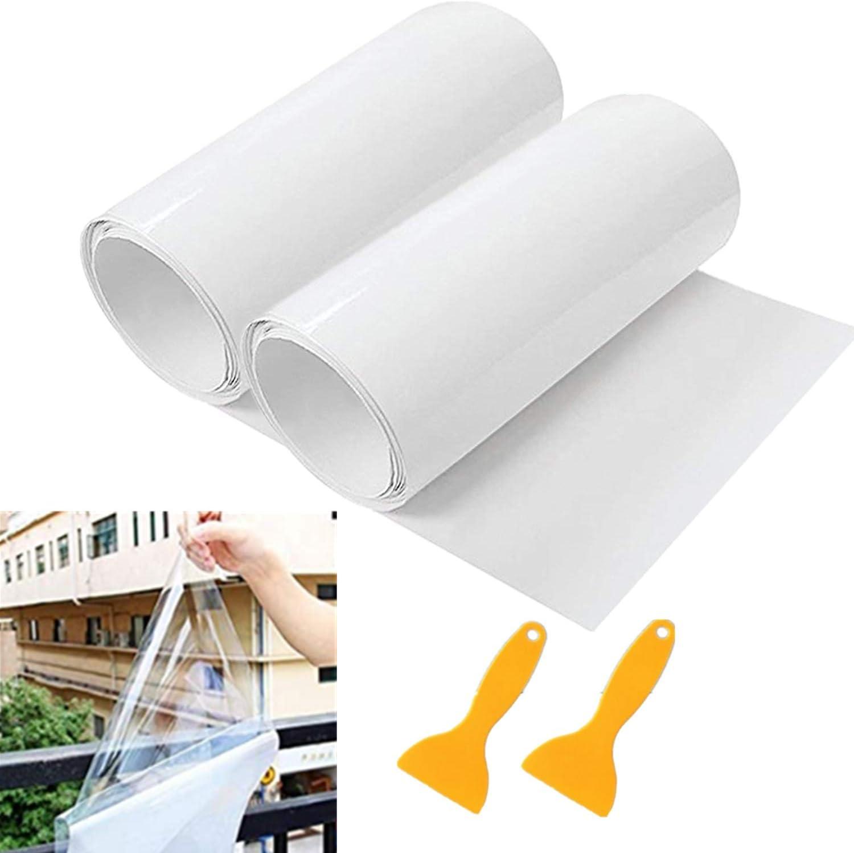 Mioke 2 Rolle 3m Lackschutzfolien Für Auto Einsatz Als Auto Folie Schutzfolie Selbstklebend Transparent Mit 2 Schabern 15 300cm Auto