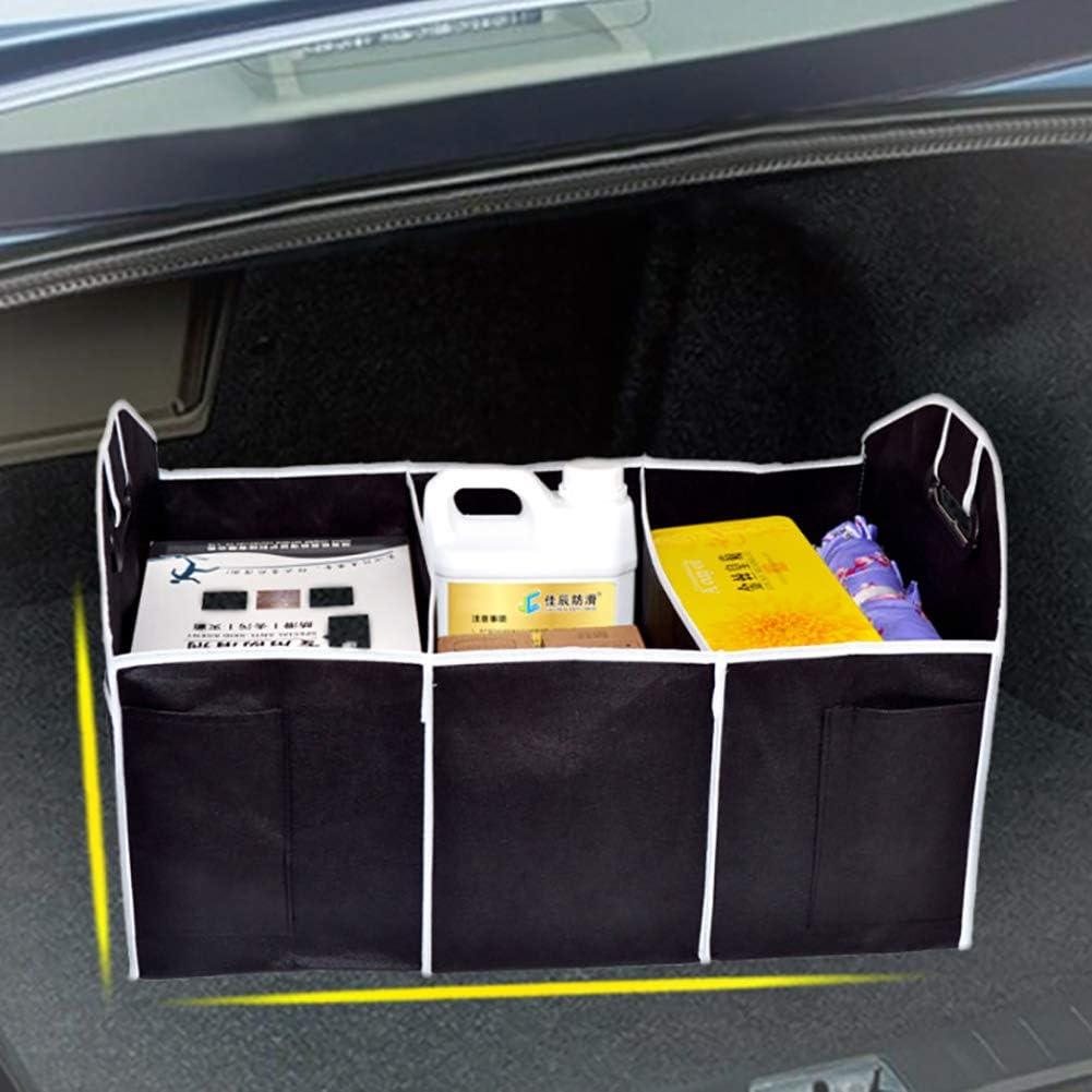 durable avec plusieurs compartiments Veronivan Grand coffre de voiture coffre de rangement organisateur sac /à outils sac de voiture bo/îte pliante sac de rangement bo/îte /à outils super solide