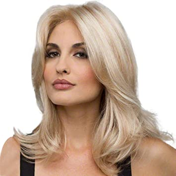 Perruque Blonde Femme,LHWY Perruque Femme
