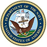 1 Pc Terrific Popular United States Department of The Navy Stickers Sign Windows One-Side Printed Bumper Size 5