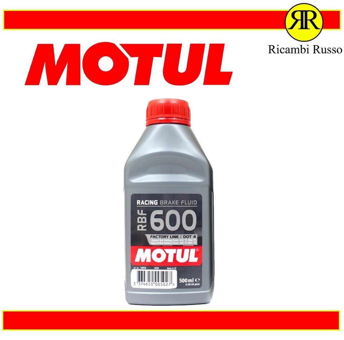 Ricambi Russo MOTUL RBF 600 OLIO LIQUIDO FRENI RACING DOT4 500ml SYNT 100% BRAKE FLUID MOTO
