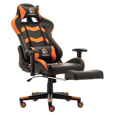 Amazon.com: Silla de oficina para juegos de carreras, silla ...