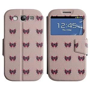 LEOCASE mariposa de color rosa Funda Carcasa Cuero Tapa Case Para Samsung Galaxy S3 I9300 No.1003960